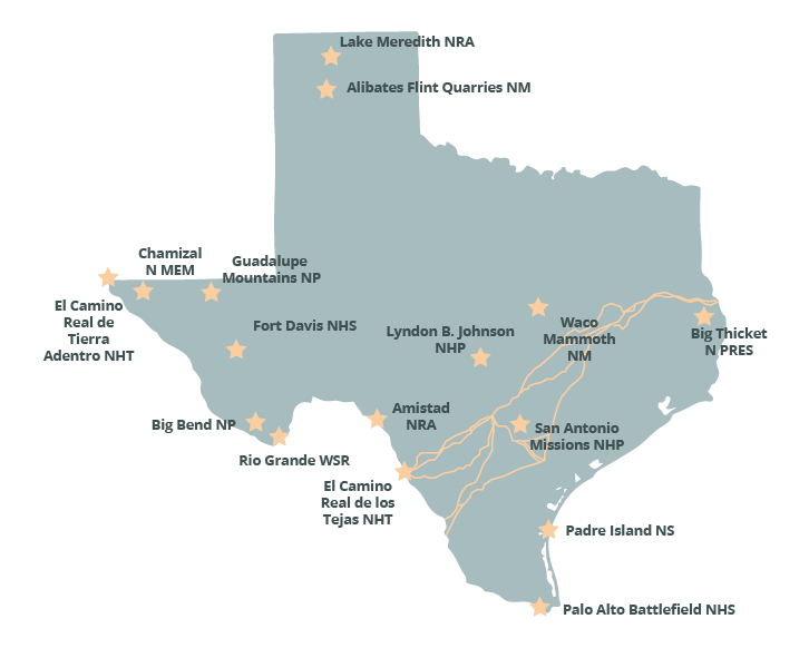 National Parks Texas Map